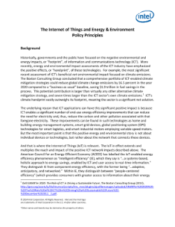 The Internet of Things and Energy & Environment  Policy Principles