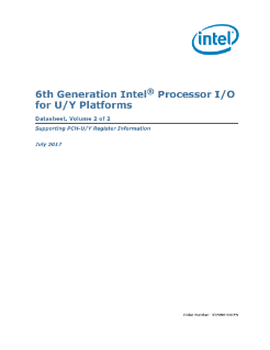 6th Generation Intel® Core™ Processor I/O Datasheet, Vol. 2