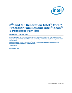 8th and 9th Generation Intel® Core™ Processor Families and Intel® Xeon® E Processor Family Datasheet, Volume 1 of 2