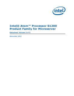 Intel Atom® Processor S1200 Product Family for Microserver Datasheet, Volume 2