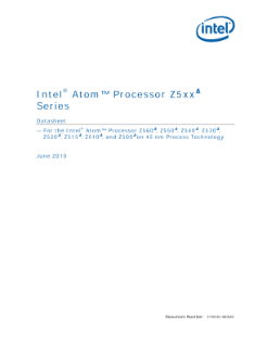Intel Atom® Processor Z5xx Series Datasheet