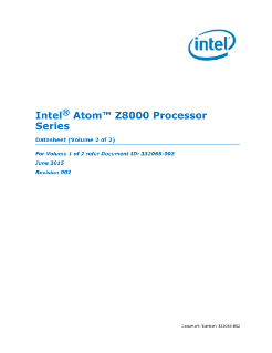 Intel Atom® Processor Z8000 Series Datasheet, Vol. 2