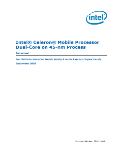 Intel® Celeron® Mobile Processor Dual-Core on 45-nm Process
