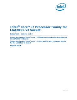 core i7 lga2011 3 datasheet vol Lga 2011, også kalt socket r, er en prosessorsokkel for intel-prosessorer  « intel core i7 processor family for lga2011-v3 socket: datasheet, volume 1 of 2 ».