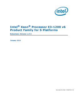 Intel® Xeon® Processor E3-1200 v6 Product Family Datasheet, Vol. 1