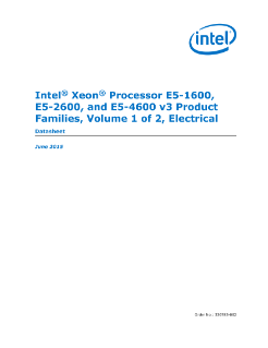 Intel® Xeon® Processor E5 v3 Family Datasheet, Vol. 1