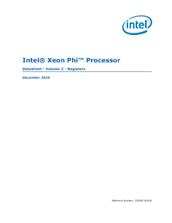 Intel® Xeon Phi™ Processor Datasheet, Vol. 2