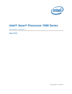 Intel® Xeon® Processor 7500 Series Datasheet, Vol. 1