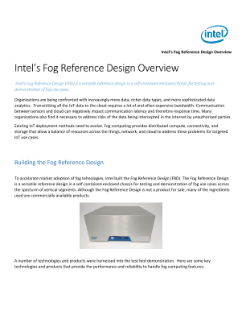Intel's Fog Reference Design Overview