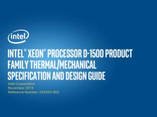 Intel® Xeon® D-1500 Processors Thermal Design Guide