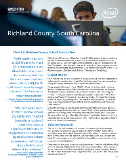 Success Story: 1Two1 in Richland County School District Two