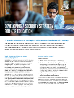 Developing a Security Strategy for K-12