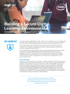 Building a Secure Digital Learning Environment with Intel® Authenticate Technology