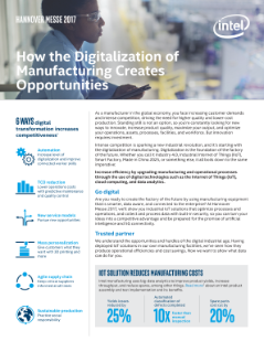 How the Digitalization of Manufacturing Creates Opportunities