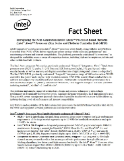 Intel Atom® Processor Z6xx Series and Platform Controller Hub MP20