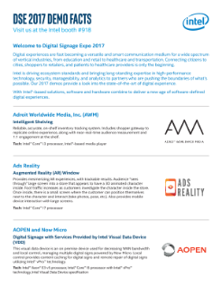 Digital Signage Expo Fact Sheet