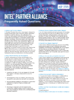 Intel® Partner Alliance Frequently Asked Questions