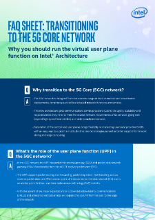5G Core Networks for Communications Service Providers - Intel