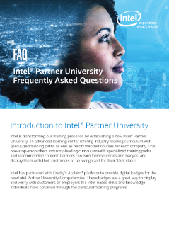 Intel® Partner University Frequently Asked Questions