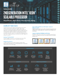 2nd Gen Intel® Xeon® Scalable Processor Sales Guide