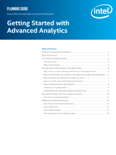 Guide to Getting Started with Advanced Analytics