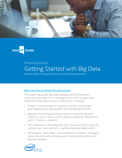 Big Data: Getting Started Reference Guide