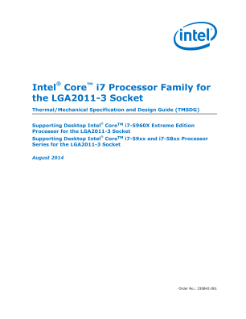 Intel® Core™ i7 Processor for LGA2011-3 Socket Thermal Guide