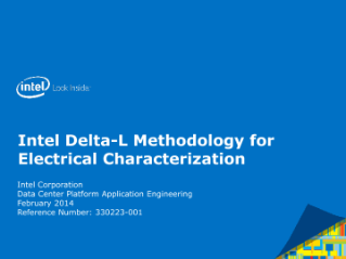 Intel Delta-L Methodology for  Electrical Characterization