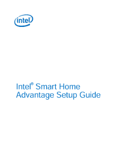 Intel® Smart Home Advantage Setup Guide