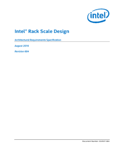 Hardware Guide: Intel® Rack Scale Design