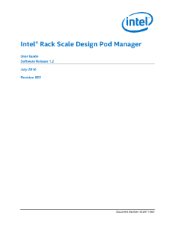 Pod Manager Guide: Intel® Rack Scale Design