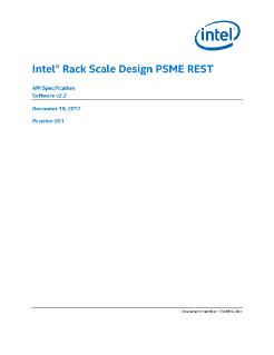 Intel® Rack Scale Design (Intel® RSD) PSME REST API Specification