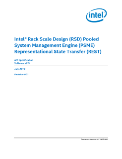 Intel® Rack Scale Design (Intel® RSD) PSME RESTful API Specification