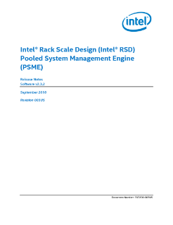 Intel® Rack Scale Design (Intel® RSD) PSME Release Notes