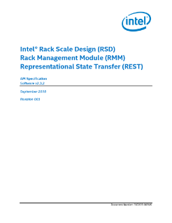 Intel® Rack Scale Design (Intel® RSD) RMM API Specification
