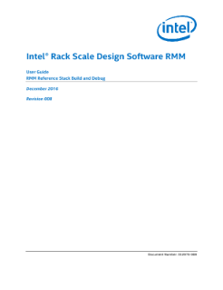 RMM Software Guide: Intel® Rack Scale Design