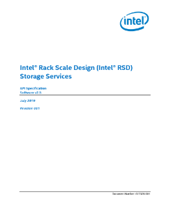 Intel® Rack Scale Design (Intel® RSD) Storage Services API Specification