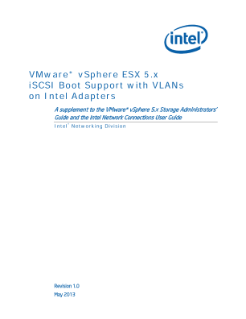 VMware* vSphere ESX 5.x iSCSI Boot Support with VLANs on Intel Adapters