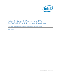 Tech Doc: Intel® Xeon® Processor E7-8800/4800 v4 Product Families