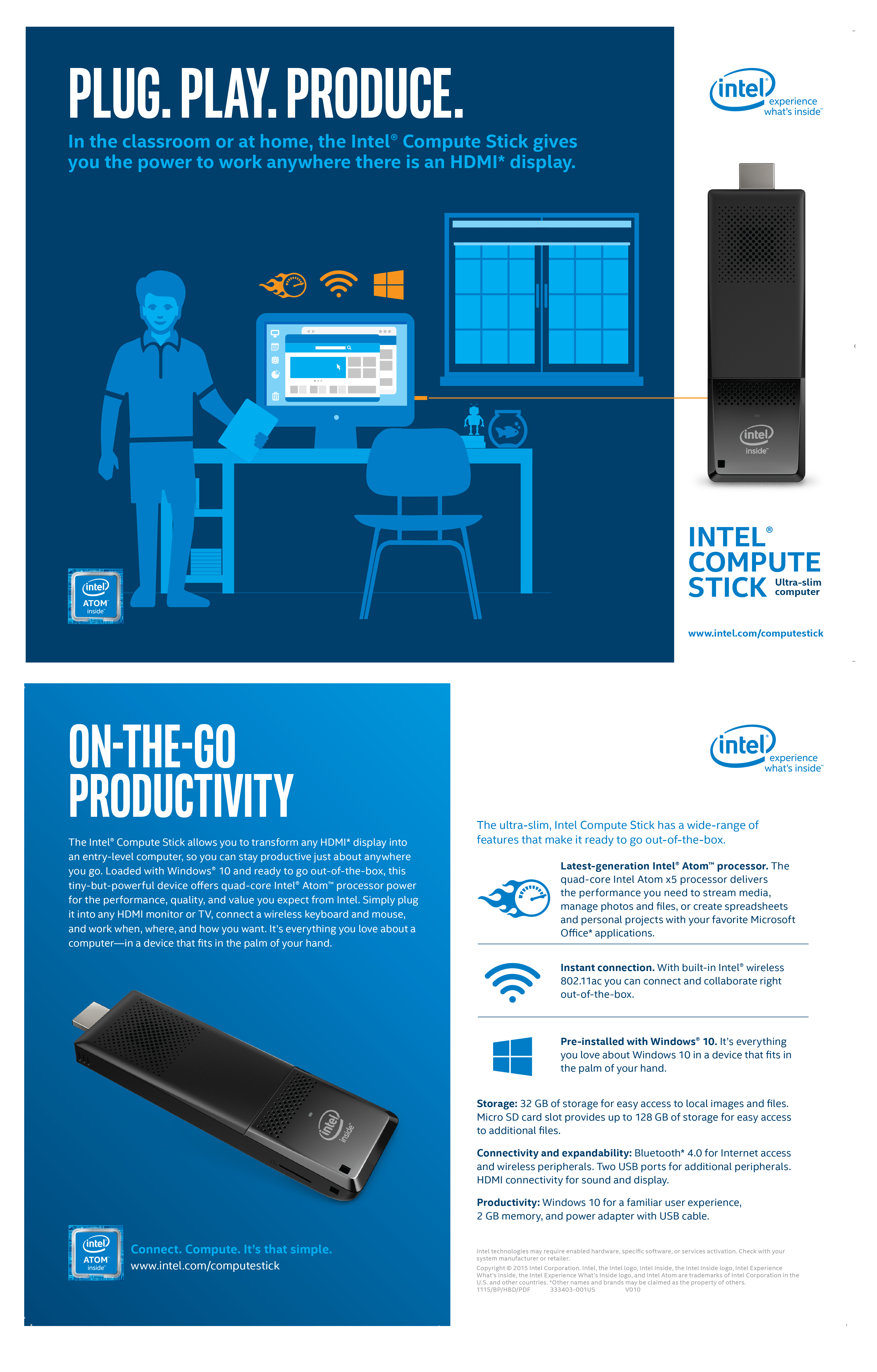 plug play and produce with intel compute stick productivity