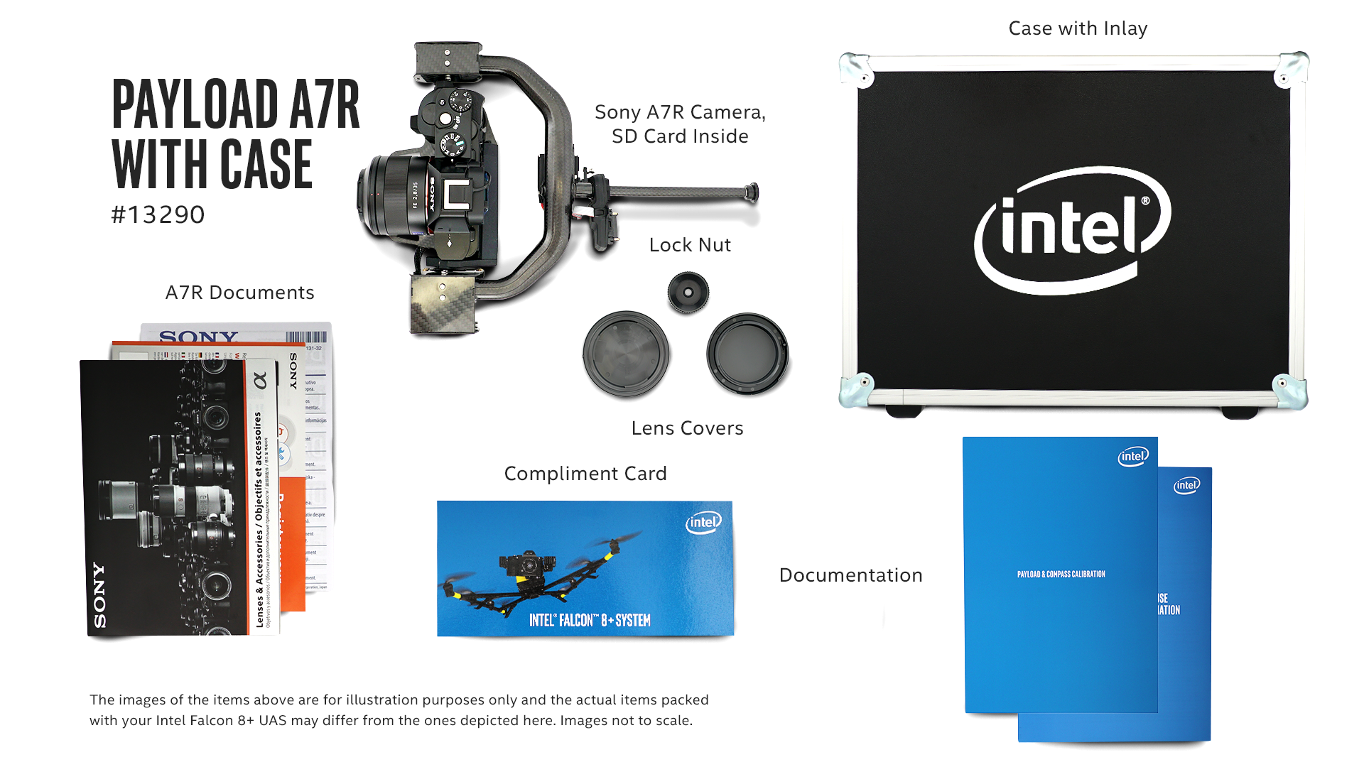 what s inside the intel falcon 8 drone payload a7r with case