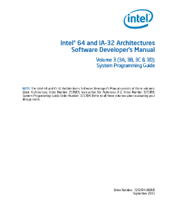 Intel® 64 and IA-32 Architectures Software Developer Manual: Vol 3