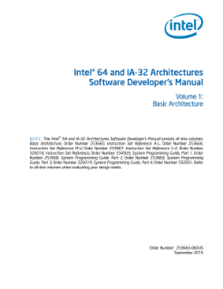 Intel® 64 and IA-32 Architectures Developer\'s Manual: Vol. 1