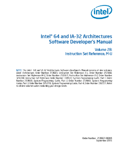 Intel® 64 and IA-32 Architectures Developer\'s Manual: Vol. 2B