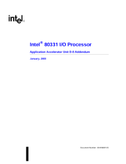 Application Accelerator Unit Addendum: Intel® 80331 I/O Processor