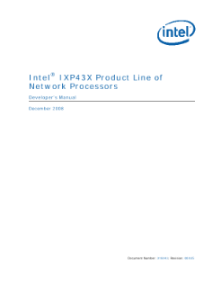 IXP43X Product Line of Network Processors Developer's Manual