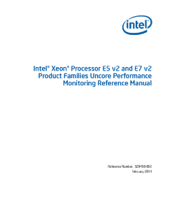 intel xeon processor e5 and e7 v2 uncore performance manual rh intel com intel performance optimization manual