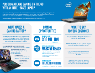 Performance and Gaming On-the-Go with Intel®-Based Laptops