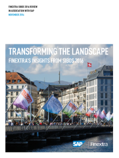 Transforming the Landscape: Finextra's Insights from SIBOS 2016
