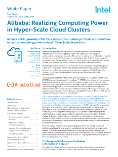 Alibaba: Realizing Computing Power in Hyper-Scale Cloud
